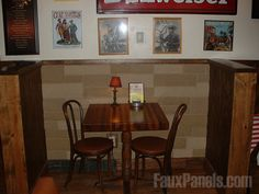 Rock wall panels are a smart choice for high traffic areas, like a restaurant's dining area