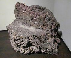 // Scott Burton. Lava Rock Chair, 1981.