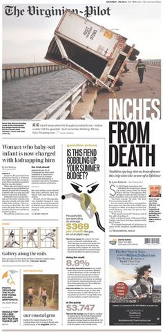 The Virginian-Pilot is by far one of my favorite newspapers. This storm-aftermath coverage is just amazing.