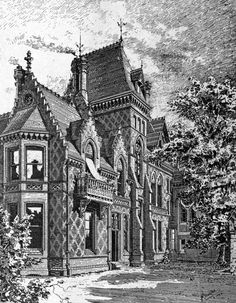 Design for a villa, England