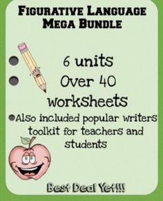 Figurative Language Mega Bundle 4th-8th (6 Units Plus More