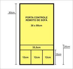 Porta Controle Remoto para Sofá