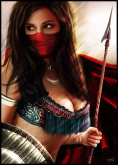 Fantasy Female Warrior, Warrior Girl, Warrior Princess, Female Art, Warrior Women, Fantasy Art Women, Beautiful Fantasy Art, Fantasy Girl, Pin Up