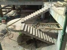 Useful Information About Staircase And Their Details - Engineering Discoveries Concrete Staircase, Floating Staircase, Staircase Design, Building Stairs, Concrete Building, House Stairs, Facade House, Villa Design, House Design