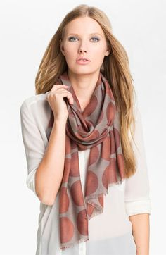 Nordstrom 'Big Dot' Scarf   Dots are back! Hooray! Great for trendy pattern mixing