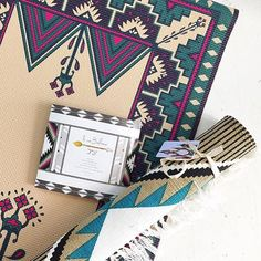 A pretty pair.  Our Moroccan-inspired mat + Navajo-inspired rug. #bohemian #yogastyle #prints #inspired