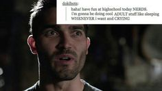 What did Derek do all day when the pack was in school? Be a sourwolf? Be probably just brooded Teen Wolf Mtv, Teen Wolf Funny, Teen Wolf Stiles, Wolf Love, Bad Wolf, Teen Wolf Quotes, Self Defense Women, Teen Wolf Seasons, Tv Show Casting