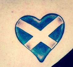 Scottish flag heart