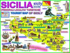 Výsledok vyhľadávania obrázkov pre dopyt sicilia mapa turistico