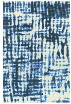 Paola Navone voor Kasthall, vloerkleed, blauw, Dye Dye