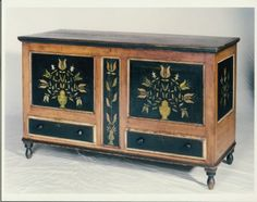 fabulous painted early blanket chest                                                ****