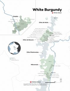 France White Burgundy Wine Map by Wine Folly 2015
