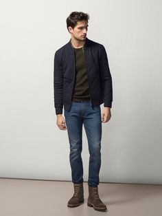 QUILTED JACKET WITH ELBOW PATCHES