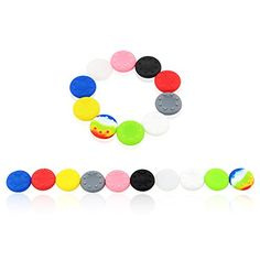 Super 10 Pairs X Analog Thumb Grip Stick Covers for PS4  PS3 XBOX 360  XBOX ONE Controller  Made of Silicone Rubber *** You can get additional details at the image link.