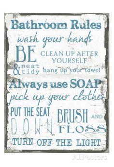 Bathroom Signs Rules bathroom rules free printable | bathroom rules, free printable and