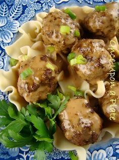 (Turned out awesome. I didn't clarify the butter and used skim milk to soak the bread. Also, used more nutmeg in the sauce) Swedish Meatballs ~ Alton Brown's Version