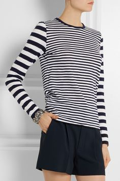 MICHAEL Michael Kors | Striped cotton top | NET-A-PORTER.COM