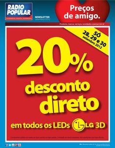 Newsletter - LEDs 3D LG com 20% desconto direto    http://www.radiopopular.pt/newsletter/2012/91/#