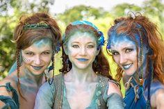 Water faery fashion, fantasy costume