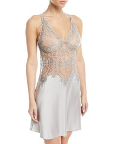 Shop Coupe de Foudre Silk Lace Chemise Nightgown from I. Sarrieri at Neiman Marcus Last Call, where you'll save as much as on designer fashions. Designer Lingerie, Luxury Lingerie, Sexy Lingerie, Glamour, Neiman Marcus, Cuerpo Sexy, Jolie Lingerie, Silk Pajamas, Silk Skirt