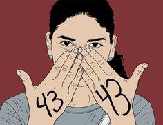 """María María Acha-Kutscher, response to the 43 students presumed dead, Mexico, 2014, part of """"Indignadas"""""""