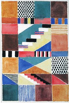 Gunta Stölzl - Bauhaus Master; Design for a carpet 1928 30x23.5 cm Victoria & Albert Museum, London