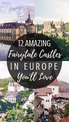 12 amazing and beautiful and all of the very best castles in Europe you'll absolutely love! Medieval, Renaissance and ruined European Castles