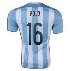 Marcos Rojo 16 2015 Copa America Argentina Home Soccer Jersey