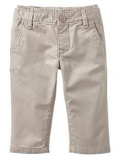 babygap Knit-waist khaki pants 12-18 months