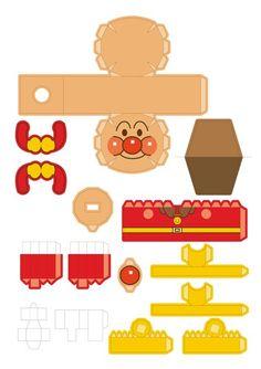 Anpan-man papercraft template