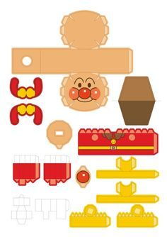 Anpan-man papercraft template