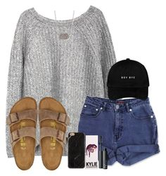 """""""ENTER ME AND ASHE'S MINI-CONTEST!!!"""" by madiweeksss ❤ liked on Polyvore featuring Jag, Kendra Scott, Birkenstock, Kylie Cosmetics and NARS Cosmetics"""