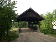KENISTON BRIDGE 29-07-02, Town Lattice Truss, built in 1882 is located West of Andover, on Bridge Road (dead end road), on the south side of US 4. (Merrimack County, NH)