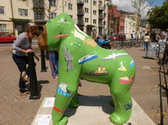Green Gorilla Green Gorilla, Bristol Zoo, Elephant Parade, Wow Products, Banksy, Home And Away, My Eyes, Statues, Street Art