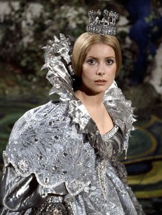 Peau d'ane (1970) Catherine Deneuve in title role & director Jaques Demy - dress in the colour of the moon. Costume design: Gitt Magrini