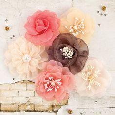 Reneabouquets New Item Listing~Prima Marketing Rossibelle Flower Embellishement…