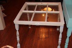 DIY window pane table -