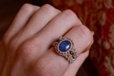 A personal favourite from my Etsy shop https://www.etsy.com/listing/289652325/tanzanite-macrame-ring-macrame-ring