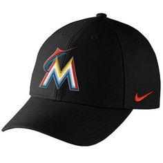 581995133f36f Miami Marlins Nike Wool Classic Adjustable Performance Hat - Black