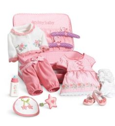 American-Girl-Bitty-Baby-Doll-DELUXE-LAYETTE-SET-Suitcase-New-Global-Ship