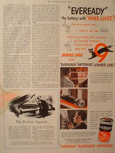 Specializing in Vintage Magazine Ads. From the to the Autos, Boats, planes and many other collectible retro memorabilia Edgewater Park, Downtown Cleveland, Battery Park, Magazine Ads, Vintage Ads, Things That Bounce, Cat, Retro, Classic