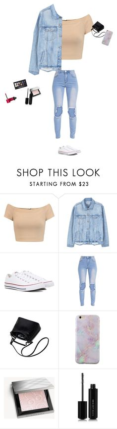 """Untitled #74"" by anne1432 ❤ liked on Polyvore featuring Alice + Olivia, MANGO, Converse, Burberry, Marc Jacobs, Maybelline and Bourjois"