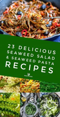 Seaweed salad isn't the only way to enjoy the superfood from the ocean. As well as wakame seaweed salad, try seaweed pasta, kelp noodles, nori crackers and sea grapes.