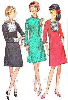 1960s Dress Pattern Simplicity 6731 Mod A Line Day by paneenjerez, $12.00