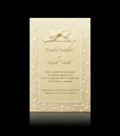 Svadobné oznámenie C 0403 - Elegantné svadobné oznámenia PAMAS