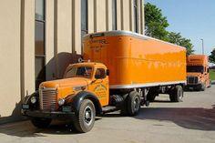 Older tractor trailer truck