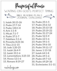happens when you feel like you're waiting on God? Join in the Purposeful Pause Bible reading plan & journal challenge!What happens when you feel like you're waiting on God? Join in the Purposeful Pause Bible reading plan & journal challenge! Bible Study Plans, Bible Study Notebook, Bible Plan, Bible Study Tools, Bible Study Journal, Devotional Journal, Daily Bible Reading Plan, Readers Notebook, Scripture Reading