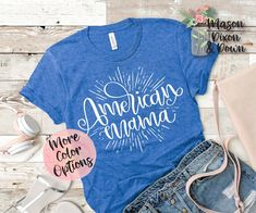 Our made-to-order American Mama, 4th of July T shirt is made with you in mind! Choose from 70 colored shirts in 7 sizes, with 10 colors to select from for the Party in the USA design to create your unique 4th of July Mama Bear tee shirt.  Whether you are buying this Land of the Free, Patriotic T..