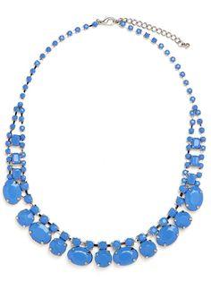 BaubleBar Cobalt Collar Necklace
