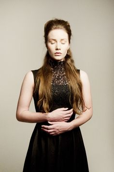 Alexander Mcqueen Game of Thrones Inspired Black Faux Suede Gothic Mad Men Party Dress w/Lace High Collar on Etsy, $145.00